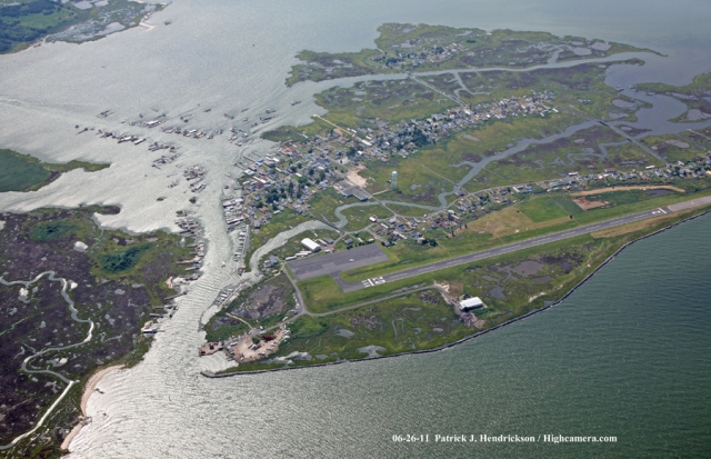 Aerial photograph of Tangier Island Virginia