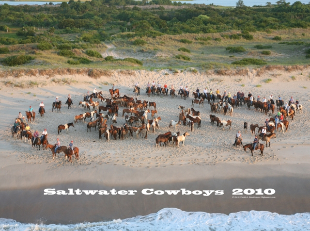 Aerial photograph of Saltwater Cowboys Portrait