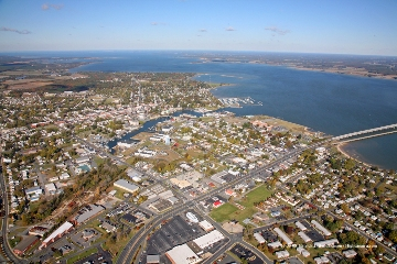 Aerial photograph of Cambridge, MD