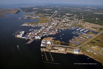 Aerial photograph of Crisfield, MD