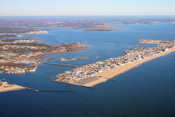 Aerial photograph of Ocean City, MD