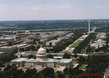 Aerial photograph of the Capital Building