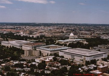 Aerial photograph of the Senate Buildings